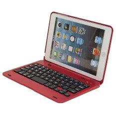 Giá Siêu Mỏng Bao Da Bàn Phím Bluetooth Ốp Lưng Giá Đỡ cho iPad Mini 2 iPad Mini 3 (Đỏ) -quốc tế