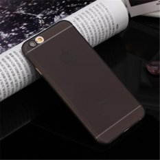 Siêu mỏng Frosted Tpu Ốp Lưng Dẻo Silicone Cho iPhone 6 Plus/6 s Plus (Đen) -quốc tế
