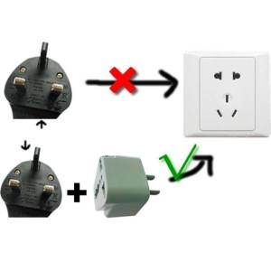 Hình thu nhỏ Universal Travel AC Wall Power Adapter China and UK Plug to US Plug Socket - intl