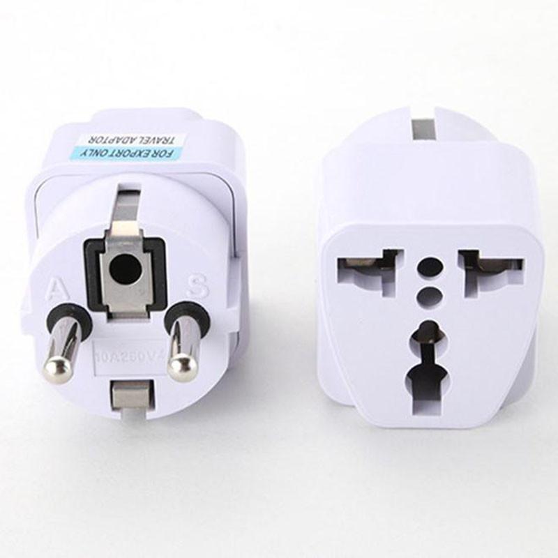 Bảng giá Đa năng ANH MỸ AU EU AC Ổ Cắm Điện Cắm Sạc Du Lịch Adapter Chuyển Đổi Màu Trắng- quốc tế Phong Vũ