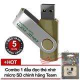 Mua Usb 16Gb Team Group Inc E902 Xanh Nhạt Đầu Đọc Thẻ Nhớ Team Microsd Tr11A1 2 Trắng Đen