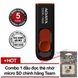Giá Bán Usb 2 16Gb Adata C008 Đen Phối Đỏ Đầu Đọc Thẻ Nhớ Team Microsd Tr11A1 2 Trắng Đen Hang Phan Phối Chinh Thức Rẻ Nhất