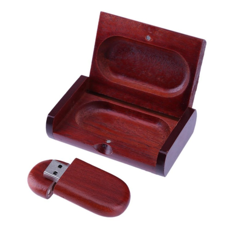 Bảng giá USB 2.0 Gỗ Hồng Sắc Vỏ Bằng Gỗ Đèn Led USB Thẻ Nhớ (Nâu)-4 gam (Có Hộp) -quốc tế Phong Vũ
