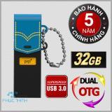 Mã Khuyến Mại Usb 3 32Gb Otg Dual Pqi Connect 301 Đen Phối Xanh