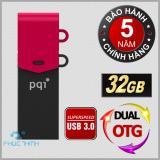 Mua Usb 3 Otg 32Gb Dual Pqi Connect 301 Đen Phối Đỏ Pqi Nguyên
