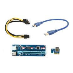 Mua 1X Thẻ Riser Adapter Mở Rộng Cổng Pci E Usb 3 Cap Nguồn 5Pin 30Cm Quốc Tế Vakind Nguyên