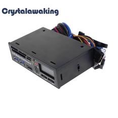 Hình ảnh USB 3.0 Tốc Độ Cao Truyền Thông Bảng Đồng Hồ Mặt trước MÁY TÍNH USB Đa (Đen)-quốc tế