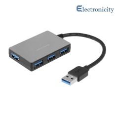 Hình ảnh HUB USB 3.0 4 Cổng Tốc Độ 5 Gbps Siêu Tốc Nhựa Bộ Chia Hub USB cho Laptop - quốc tế