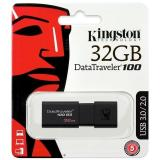 Mua Usb 3 Kingston Data Traveler Dt100G3 100Mb S 32Gb Đen Hang Phan Phối Chinh Thức Kingston Rẻ