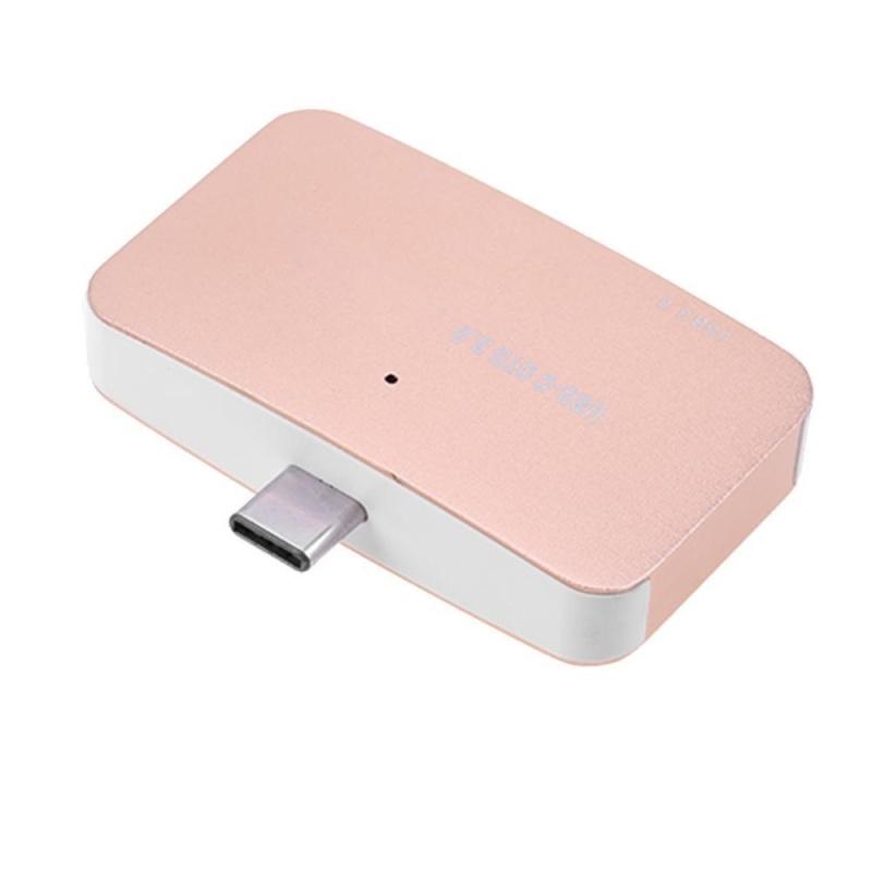 USB 3.0 Loại C SD TF OTG Đầu Đọc Thẻ Tốc Độ Cao cho Điện Thoại (Vàng)-quốc tế