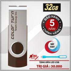 USB 32GB Taiwan Team Group INC E902 (Nâu) + Tặng đèn led USB