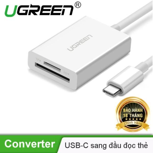 USB-C sang đầu đọc thẻ nhớ 2 trong 1 TF/SD 3.0 UGREEN US235 40380 - Hãng phân phối chính thức