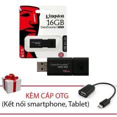 USB Kingston DT100G3 USB 3.0 16GB + Cáp kết nối OTG