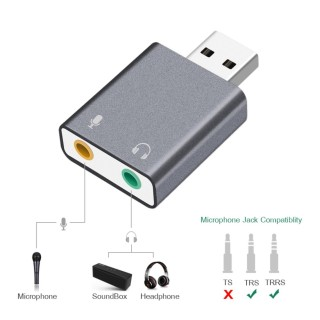 Sound nhôm cao cấp chia mic và loa từ cổng USB thumbnail
