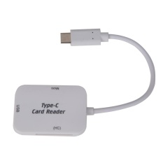 USB Loại C Sang USB 3.1 SD TF Đầu Đọc Thẻ Nhớ OTG Adapter (Màu Trắng)-quốc tế