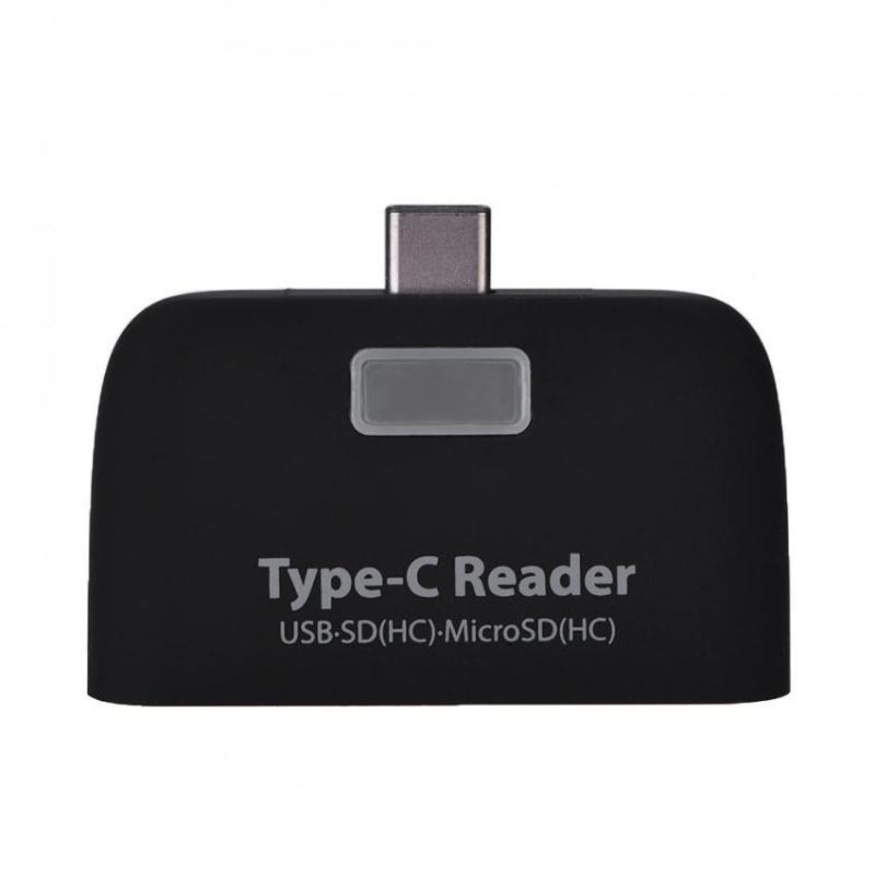Bảng giá USB3.1 Type-C to USB 2.0 OTG Hub SD / TF Micro SD (HC) Card Reader with Micro USB Port (Black) - intl Phong Vũ