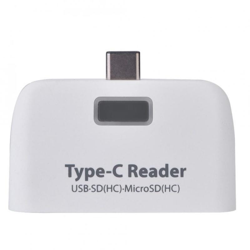 Bảng giá USB3.1 Type-C to USB 2.0 OTG Hub SD / TF Micro SD (HC) Card Reader with Micro USB Port (White) - intl Phong Vũ