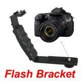 Video Light Camera Flash L-bracket With 2 Standard Flash Shoe Mount Brack - Intl