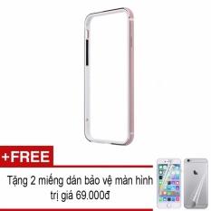 Giá Viền dẻo chống sốc iPhone 6/6S (Hồng Gold) + Tặng Bộ miếng dán 2 mặt bảo vệ màn hình