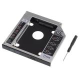 Vococal 2nd HDD SSD Adapter 9.5 mét SATA 2.5 inch ra SATA (Bạc/Đen) -quốc tế