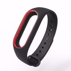 Hình ảnh Vòng đeo tay thay thế MIJOBS cho Xiaomi Miband 2, (đen viền đỏ)
