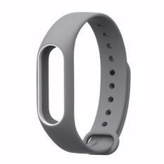 Hình ảnh Vòng đeo tay thay thế MIJOBS cho Xiaomi Miband 2( xám viền trắng)