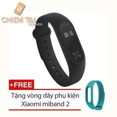 Mua Vong Đeo Tay Xiaomi Miband 2 Đen Tặng Vong Đeo Thay Thế Xiaomi Miband 2 Rẻ Hồ Chí Minh