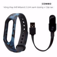 Hình ảnh Vòng đeo thay thế Miband 2 rằn ri + cáp sạc miband 2