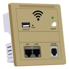 Hình ảnh Tường Nhúng 3 gam WiFi 86 Bảng Điều Khiển Nhà Router Công Tắc 5 v 2A USB LAN/RJ11-quốc tế