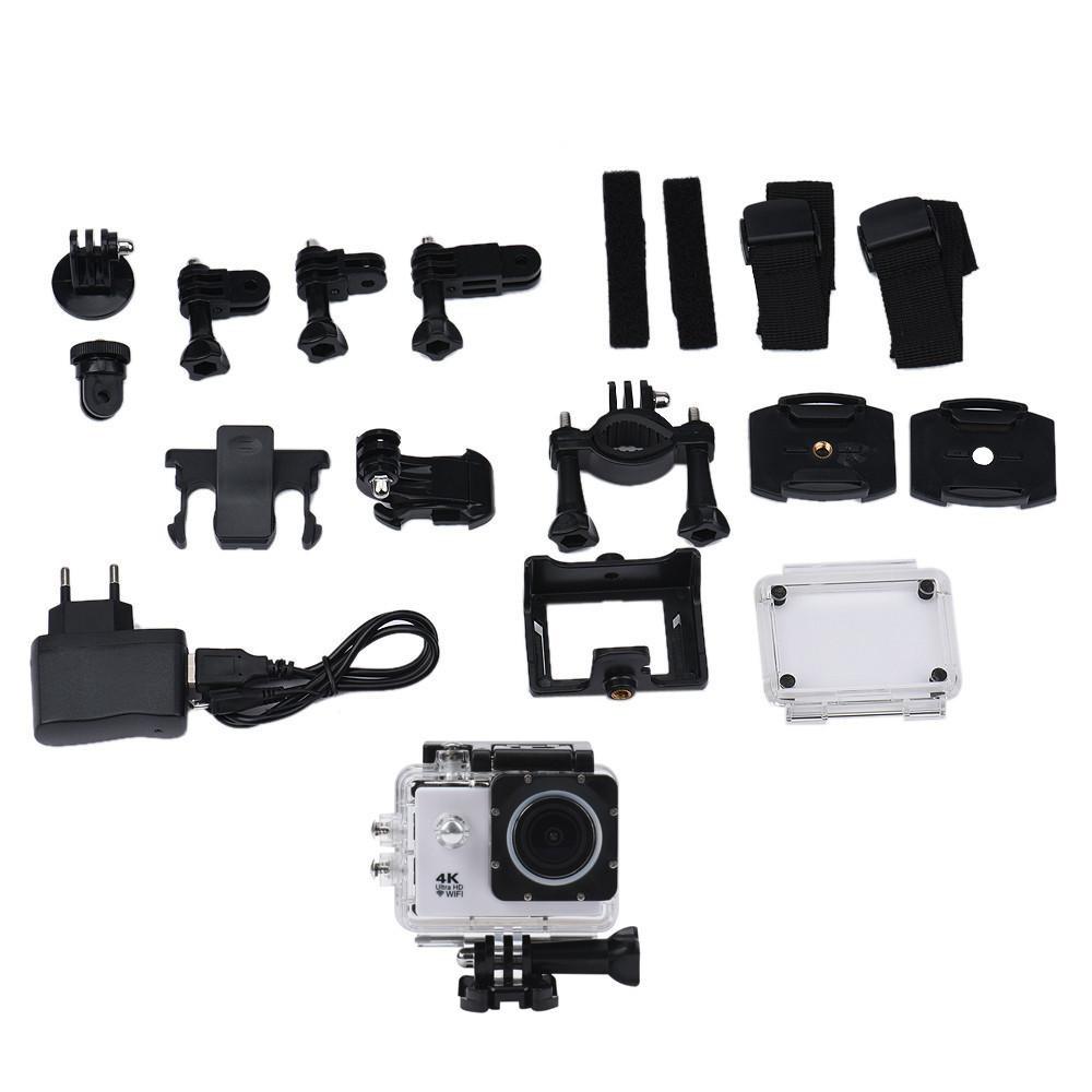 Ốp Lưng Chống Nước 4 K Wifi Mini Camera Hành Động Dv Thể Thao Đầu Ghi Camera Wh-Quốc Tế