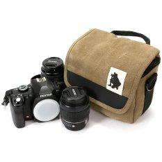 Hình ảnh Máy ảnh Kỹ Thuật Số SRL chống thấm nước túi xách đeo vai Canon SX50 650D 700D 100D 500D 550D 600D 1100D DSRL camera (kaki) -quốc tế