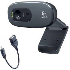 Webcam HD Logitech C270 và tặng Cáp OTG - Hãng phân phối chính thức