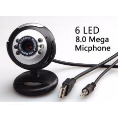 Webcam máy tính X1 8MP, 6 led, tích hợp micro, xoay gập linh hoạt