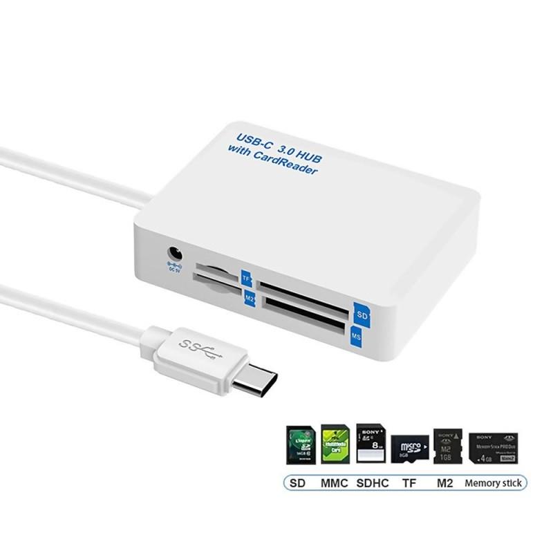 Bảng giá Whyus-New Type-C to 3 Port USB 3.0 HUB USB-C 3.0 Combo OTG SD/TF/MMC/MS/M2 Card Reader - intl Phong Vũ