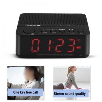 Check giá Không dây Bluetooth Âm Nhạc Âm Thanh Loa MP3 with AUX Đồng Hồ Báo  Thức Đài FM Hiển Thị Màn hình ĐÈN LED (Đen) -quốc tế ở đâu rẻ hơn