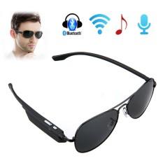 Hình ảnh Không dây Bluetooth V2.1 + EDR Kính Mát Tai Nghe Tai Nghe Đàm Thoại Rảnh tay Điều Khiển Bằng Giọng Nói (Đen)-quốc tế
