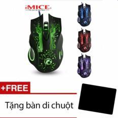 Hình ảnh (XEM VIDEO) Chuột chơi game 7LED IMICE X9 3200DPi (Đen) + Tặng 01 bàn di chuột(hàng công ty xịn)