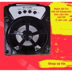 (xem video)Loa Bluetooth xách tay MS-310BT 8W (Đen) đèn led nghe được Fm radio tặng củ sạc 1A