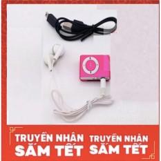Hình ảnh (Xem video)Máy nghe nhạc MP3(màu tùy ý) vỏ nhôm kẹp áo+cáp sạc truyền dữ liệu(dùng như đầu đọc usb)