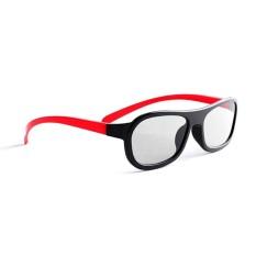 Hình ảnh Xiaomi Fashion PC Frame TV 3D Spectacles Polarized Eyeglass - Red + Black - intl