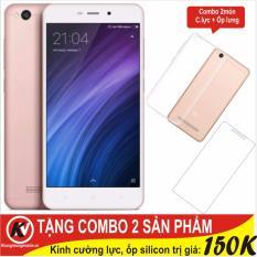 Ôn Tập Trên Xiaomi Redmi 4A 16Gb Ram 2Gb Khang Nhung Hồng Cường Lực Ốp Silicon Trong Suốt Hang Nhập Khẩu