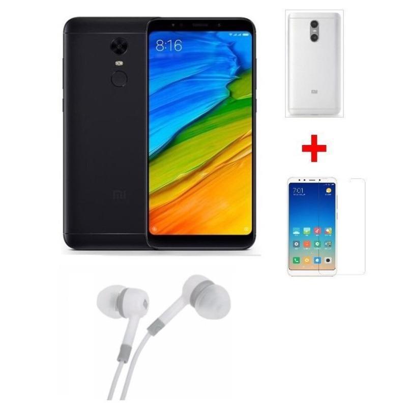Xiaomi Redmi 5 Plus 64G Ram 4G (Đen) + Ốp lưng + Cường lực + Tai nghe - Hàng nhập khẩu