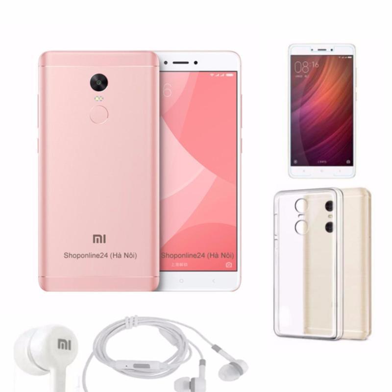 Xiaomi Redmi Note 4X 32GB (Hồng) Tai Nghe + Ốp Lưng + kính cường lực - Hàng nhập khẩu
