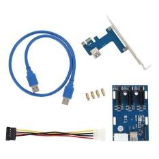 Hình ảnh Bộ công tắc mở rộng YBC 1 sang 3 cổng PCI-E 1X-quốc tế