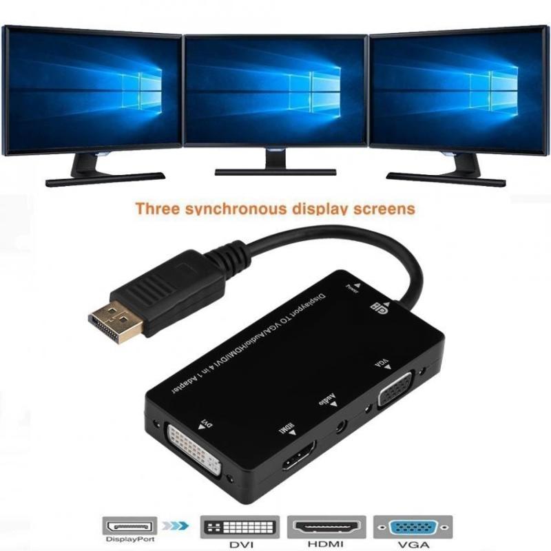 Bảng giá YOSOO 4 trong 1 Màn Hình Cổng Đực sang HDMI VGA DVI Cáp Âm Thanh Chuyển Đổi Adapter Cho MÁY TÍNH-quốc tế Phong Vũ