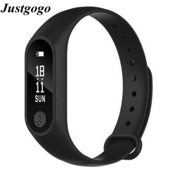 Justgogo Bluetooth Thông Minh Băng Cổ Tay Thể Thao Thông Minh FitnessTracker Đo Sức Đi Bộ Chống mất Nhắc Nhở Thông Minh Đồng Hồ Đeo Tay Màu Đen
