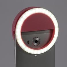 Hình ảnh YOSOO Selfie Di Động Đèn LED Nhẫn Cho IPhone Android Màu Hồng-intl