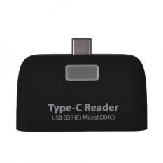 Hình ảnh YOSOO USB3.1 Loại C sang USB 2.0 OTG Hub SD/TF Đầu Đọc Thẻ Nhớ Micro có Cổng Micro USB (đen) -quốc tế