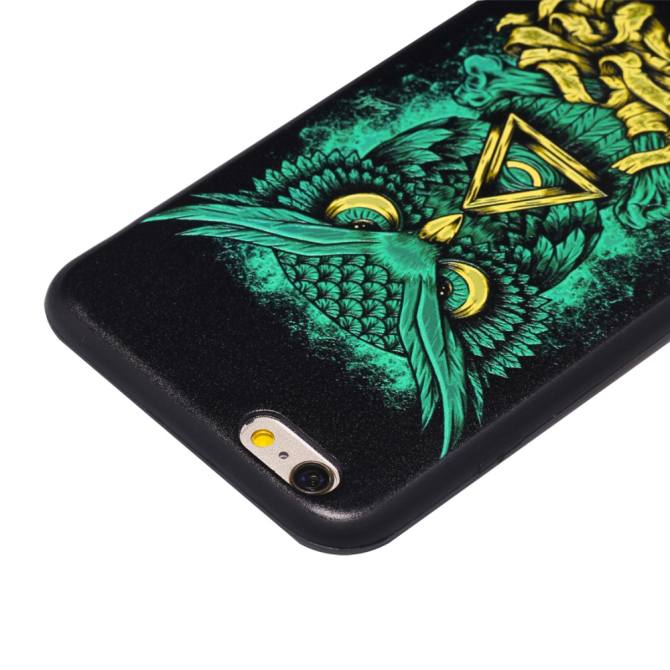 Zoeirc Slim Thin Soft Silicone Gel TPU Case Special 3D Relief Printing Pattern