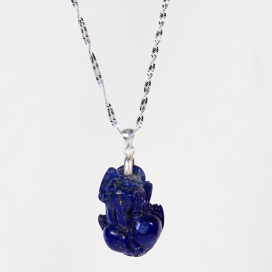 Dây chuyền tỳ hưu lapis lazuli